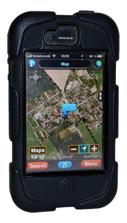 Smartphone mit OutddorApp